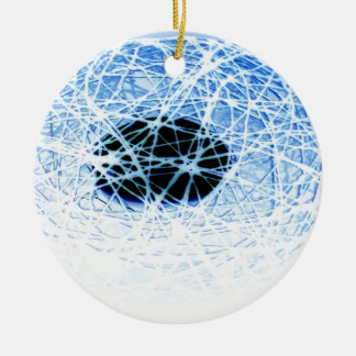 Ornement Rond En Céramique Snowball