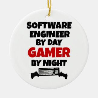 Ornement Rond En Céramique Software Engineer par le Gamer de jour par nuit