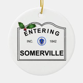 Ornement Rond En Céramique Somerville mA