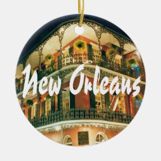 Ornement Rond En Céramique Souvenir commémoratif de la Nouvelle-Orléans