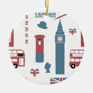 Ornement Rond En Céramique Special de Londres