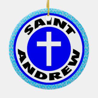 Ornement Rond En Céramique St Andrew