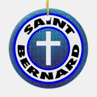 Ornement Rond En Céramique St Bernard