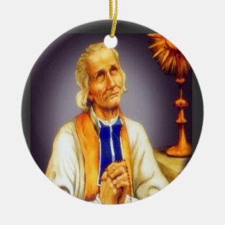 Ornement Rond En Céramique St John * de l'ornement croisé de Noël