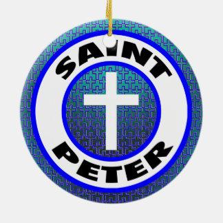 Ornement Rond En Céramique St Peter