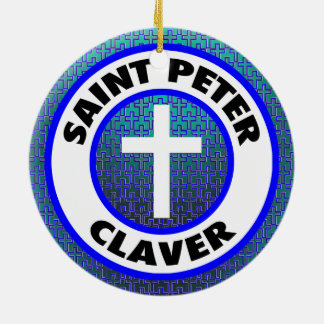 Ornement Rond En Céramique St Peter Claver