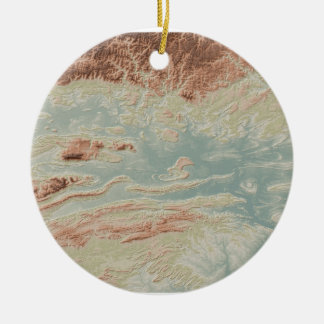 Ornement Rond En Céramique Style de classique de vallée de la rivière