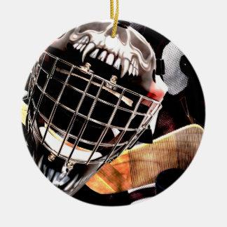 Ornement Rond En Céramique Style de grunge de vitesse d'hockey