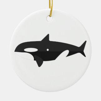 Ornement Rond En Céramique Style de primitif de baleine d'orque