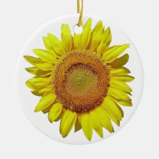 Ornement Rond En Céramique Sunflower - Tournesol (02)