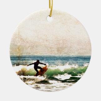 Ornement Rond En Céramique Surfer5