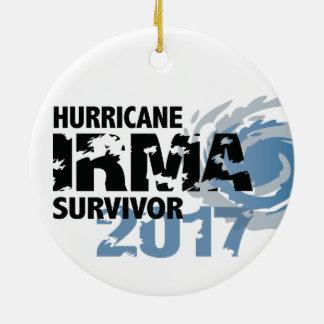 Ornement Rond En Céramique Survivante la Floride 2017 d'Irma d'ouragan