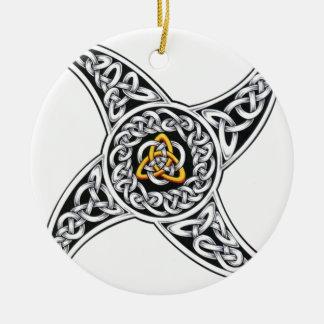 Ornement Rond En Céramique symbole de celtique-guerriers