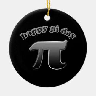 Ornement Rond En Céramique Symbole heureux du jour | pi de pi pour maths