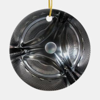 Ornement Rond En Céramique Tambour de machine à laver de Fisheye à