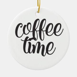 Ornement Rond En Céramique Temps de café