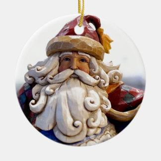 Ornement Rond En Céramique Temps de Noël de Noël du père noël Nicholas