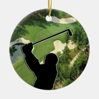 Ornement Rond En Céramique Terrain de golf