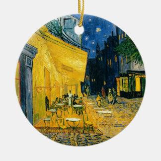 Ornement Rond En Céramique Terrasse de café de Vincent van Gogh |, Place du