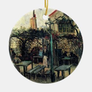 Ornement Rond En Céramique Terrasse de Van Gogh d'un café sur Montmartre,