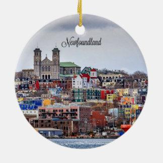 Ornement Rond En Céramique Terre-Neuve, photographie de paysage urbain