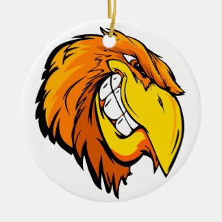 Ornement Rond En Céramique tête d'aigle