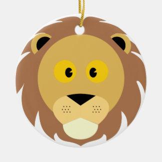 Ornement Rond En Céramique Tête de Lion
