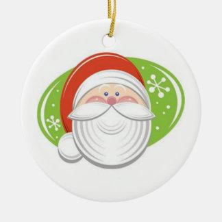 Ornement Rond En Céramique The face of Santa Claus -