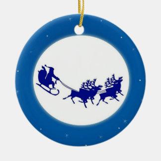 Ornement Rond En Céramique The Santa Claus sleigh -