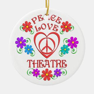 Ornement Rond En Céramique Théâtre d'amour de paix