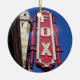 Ornement Rond En Céramique Théâtre de Fox, Atlanta, la Géorgie, Joyeux Noël
