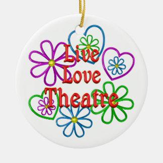 Ornement Rond En Céramique Théâtre vivant d'amour