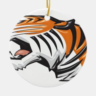 Ornement Rond En Céramique tiger3