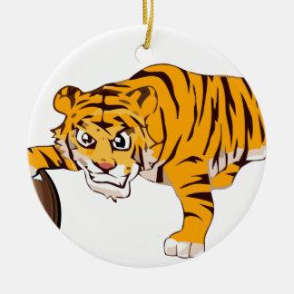 Ornement Rond En Céramique tiger4