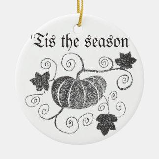 Ornement Rond En Céramique 'Tis le citrouille de saison