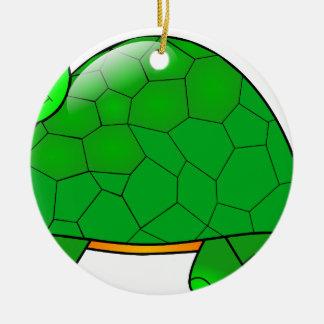 Ornement Rond En Céramique tortue