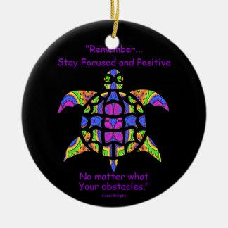 Ornement Rond En Céramique Tortue kaléïdoscopique Ornament.7 de mandala