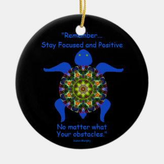 Ornement Rond En Céramique Tortue kaléïdoscopique Ornament.8 de mandala