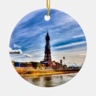 Ornement Rond En Céramique Tour de Blackpool