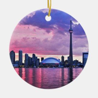 Ornement Rond En Céramique Tour de NC : Vue d'île centrale Toronto