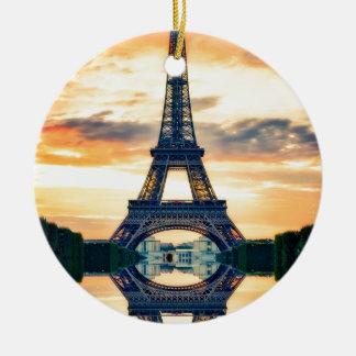 Ornement Rond En Céramique Tour Eiffel Paris même le voyage européen
