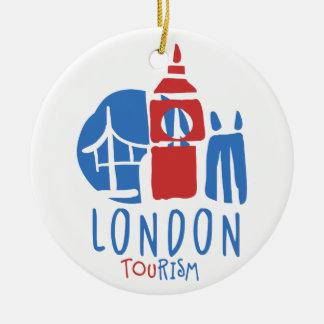 Ornement Rond En Céramique Tourisme de Londres