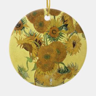 Ornement Rond En Céramique Tournesols de Vincent van Gogh |, 1888