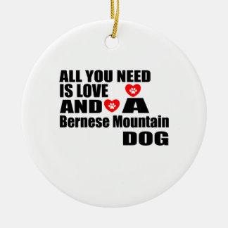 Ornement Rond En Céramique Tous vous avez besoin de la conception de chiens