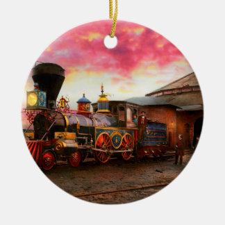 Ornement Rond En Céramique Train - le JH Devereux 1862