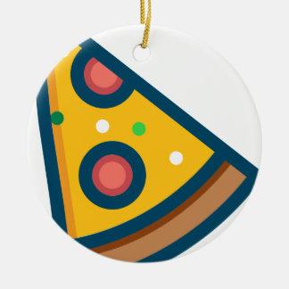 Ornement Rond En Céramique Tranche de pizza