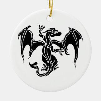 Ornement Rond En Céramique Tribal  dragon