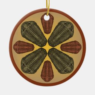 Ornement Rond En Céramique Trilobites en bronze et de cuivre de Calymene