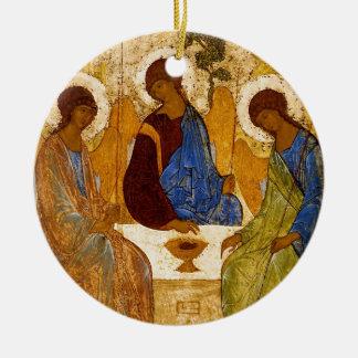 Ornement Rond En Céramique Trinité de Rublev au Tableau