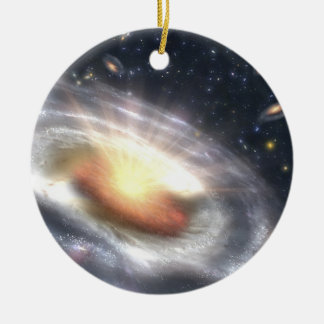 Ornement Rond En Céramique Trou noir de quasar de NASAs